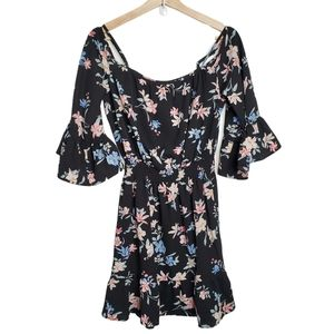 H&M Divided Bright Floral Romper Size 6
